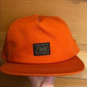 Obey orange SnapBack